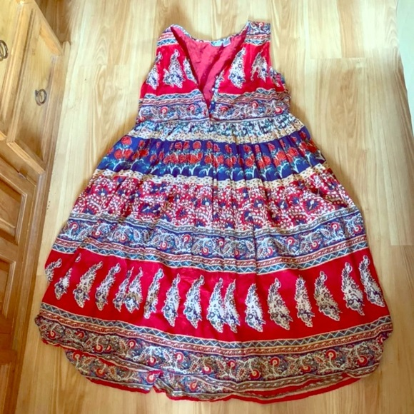 American Apparel Dresses & Skirts - Floral and paisley stretchy maxi dress large